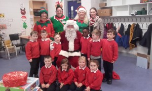 Santa in Junior Infants