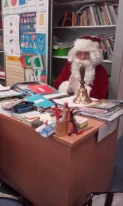 Santa teaching Second class