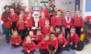 Santa in Senior Infants