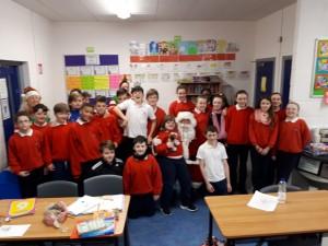 Santa in Sixth Class